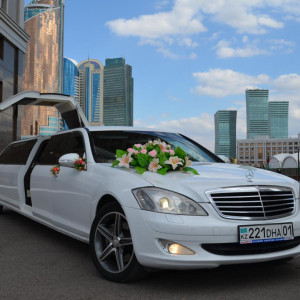 Mercedes-Benz S-class W221 Limousine Lease in Astana | +7 701 728 57 41